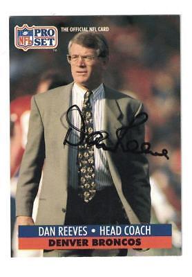 (Dan Reeves Signed Autographed 1991 Pro Set Card Denver Broncos)