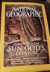 16 National Geographic Magazines