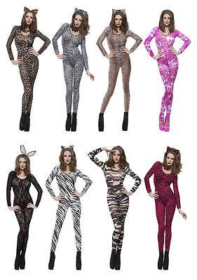 Damen Sexy Body Kostüm Verkleidung Erwachsene Outfit Smiffys - Zebra Sexy Kostüme