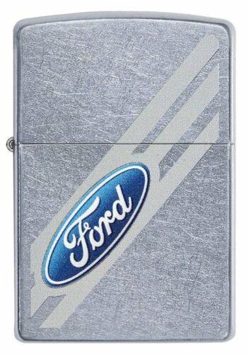 Ford Diagonal Logo Street Chrome Zippo Lighter