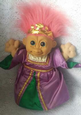 Queen Crown And Scepter (Vintage Russ Troll Kidz Troll Doll Soft Bodied Queen Crown and)