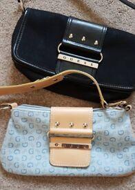 Two GUESS handbags / Clutch