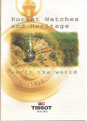1996 Tissot pocket Watch & Heritage 24 Pg Catalog - Price List & 3 Languages