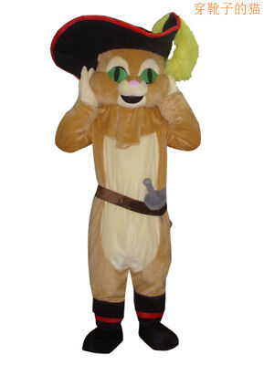 Puss In Boots Mascot Costume Adult Unisex Ads Cartoon Doll Cosplay Outfit Parade - Puss In Boots Costume Adult