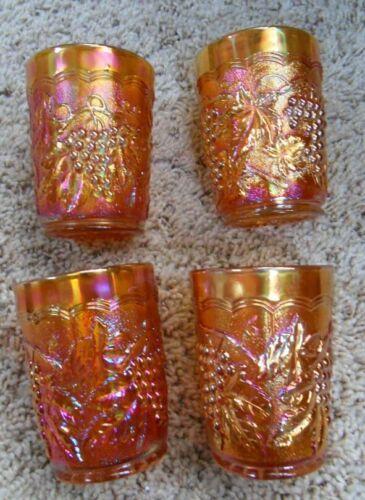 Imperial Grape Marigold Carnival Set of 4 Tumblers