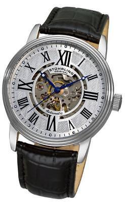 Stuhrling Original 1077 33152 Delphi Collection Automatic Skeleton Mens Watch