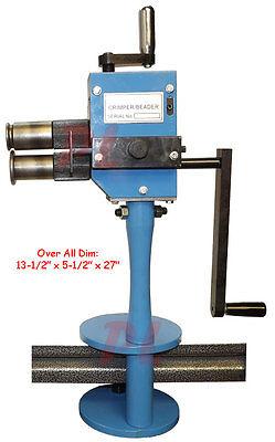 Manual Crimper Bead Beader Sheet Metal Roll Former Fabrication 24 Gauge