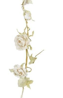 IVORY CREAM VINTAGE CHIC ROSE FLOWER GARLAND SHABBY CHIC WEDDING DECORATION