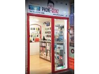MOBILE PHONE RETAIL AND REPAIR BUSINESS FOR SALE - SHEFFIELD HIGH STREET - CHEAP RENT - ZERO RATES