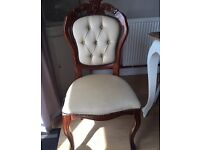 2 x Louis XV French style shabby chic dinning chairs