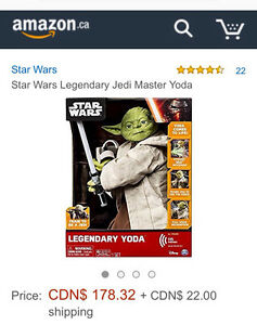 Star Wars Legendary Yoda, new in box