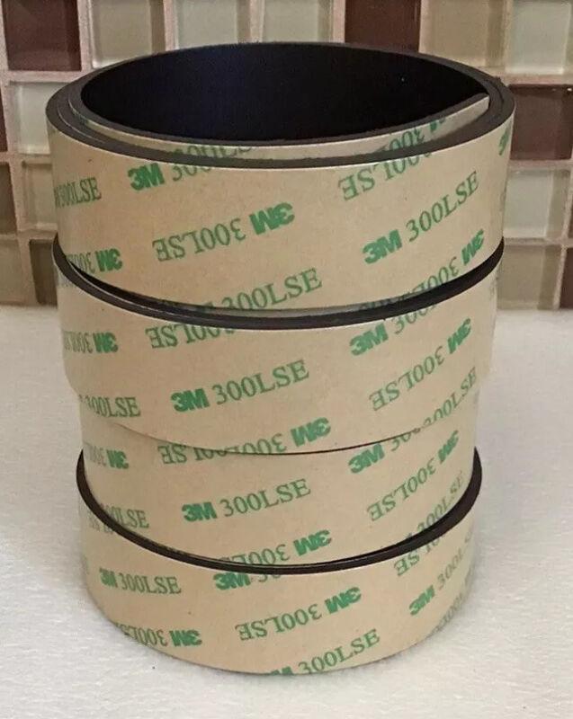 House Again Flexible Magnet Strip 4pk 1 inch x 2.5 feet w/3M 300LSE New