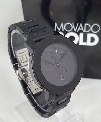 Movado Bold 3600056 Unisex 38mm Black Polymer Chronograph Watch $650  SHIPS FREE