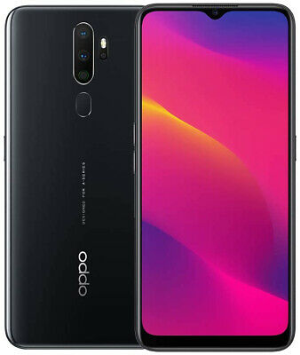 """Android Phone - New Oppo A5 2020 Black 6.50"""" 64GB Dual SIM 5000mAh Android 10 Sim Free"""