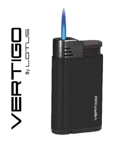 Vertigo Attache Black Single Jet Torch Butane Lighter For Cigars & More ~ New~