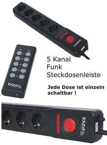 Mehrfach Schuko-Steckdosenleiste mit 5 Kanal Funk Fernbedienung! DJ Light Switch
