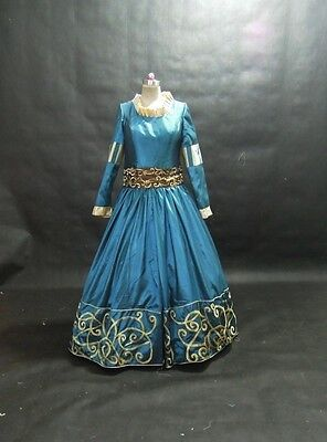 Disney Brave Princess Merida costume adult SIZE 18,20,22,24,26,28 Teal colour (Disney Brave Kostüm)