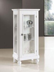 Mobile vetrina cristalliera 1 porta vetro soggiorno ebay - Vetrina angolare ikea ...