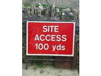 Site access builders sign