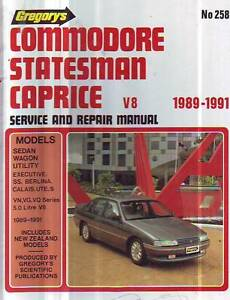 Hjolden COMMODORE V8 VN VG VQ WORKSHOP SERVICE MANUAL    1989-91 Sefton Bankstown Area Preview