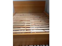 IKEA WOODEN DOUBLE BED
