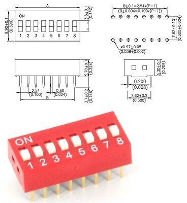 ### DIP-Schalter 8-polig RM2.54