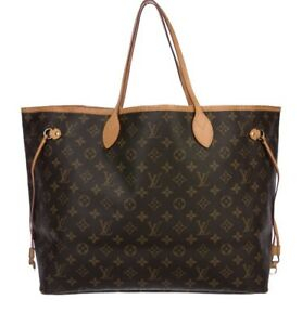 Louis Vuitton never full gm large tote
