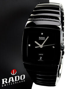 NEW Rado Sintra Jubile Automatic R13663712 Black Ceramic Men's Diamond Watch
