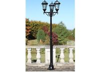 Traditional 3 way garden patio lighting brand new