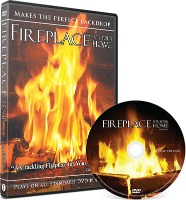 BEST SELLING Classic Crackling Fireplace Edition DVD - #1 on