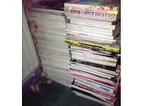 Large collection of fashion magazines for sale