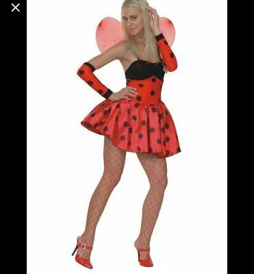 Red LADY BIRD Fancy Dress Party Costume PLUS Size XL 16-18 Curve