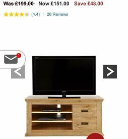 Brand new 2pc oak effect living room set bargain