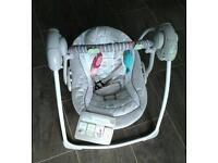 Comfort and harmony portable baby swing