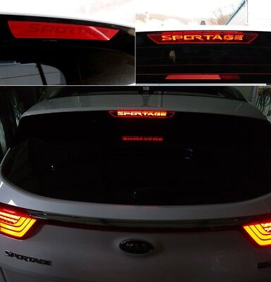 Rear Spoiler Auxiliary Stop Lamp Mask Molding For Kia Sportage QL 2017~2019