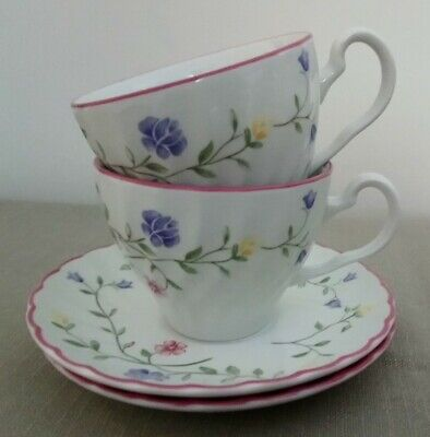 2 Johnson Brothers Summer Chintz Pattern Tea Cups & Saucers
