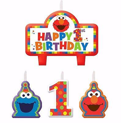 Elmo1st Birthday Mini Candles Party Supplies Cake Decoration First Sesame Street (Elmo 1st Birthday Supplies)