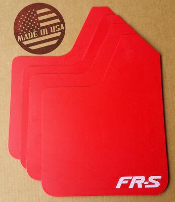 [SR] STARTER Mud Flaps Set RED with Custom Vinyl Logo D -