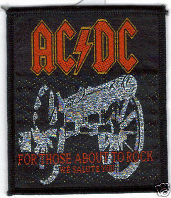 AC/DC FOR THOSE ABOUT TO ROCK WOVEN PATCH !