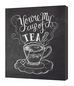 Lily & Val - You're My Cup of Tea - 40 x 50cm Canvas Print Wall Art