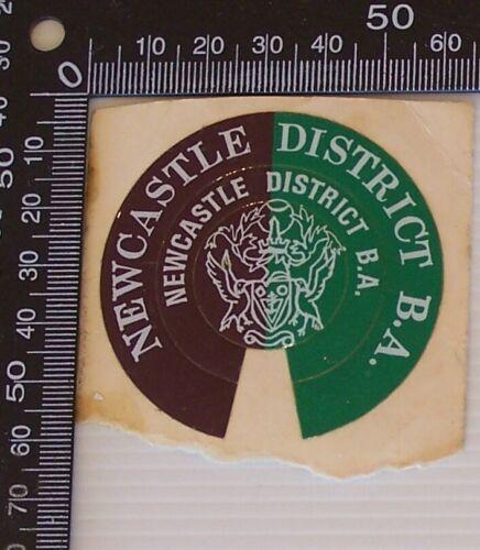 VINTAGE NEWCASTLE DISTRICT B.A. VINYL PROMO STICKER DECAL
