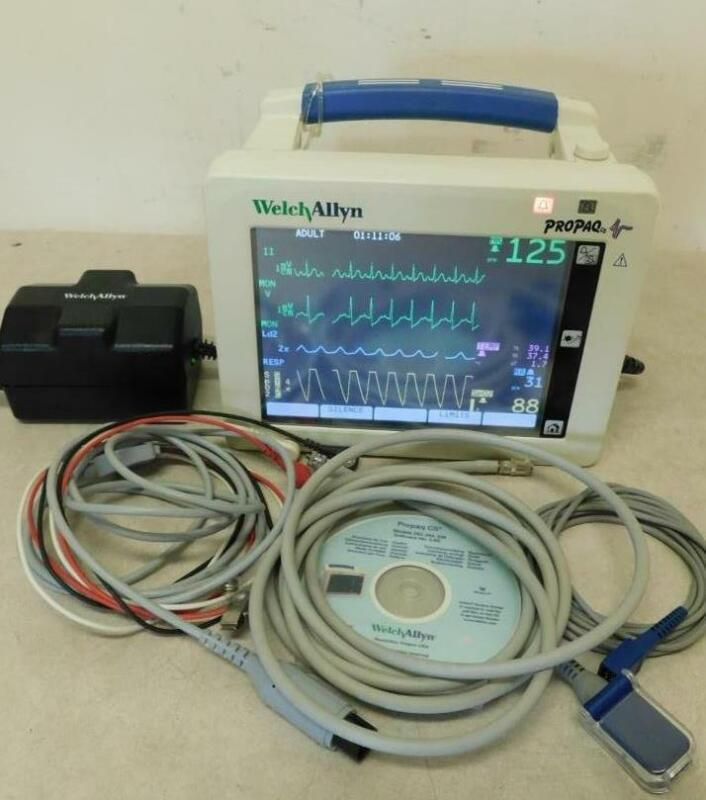 Welch Allyn Propaq 242 CS Patient Vital Signs Monitor Spo2 NIBP Temp ECG