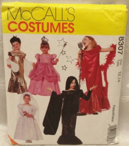 McCalls UNCUT Halloween Costume Pattern 8307 Sz 12,14 Girls Bride Singer Vampire