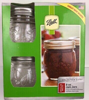 Ball Jelly Jars Regular Mouth 8 oz Design Glass Half Pint Mason 4 Pack Elite Pint Mason Jelly