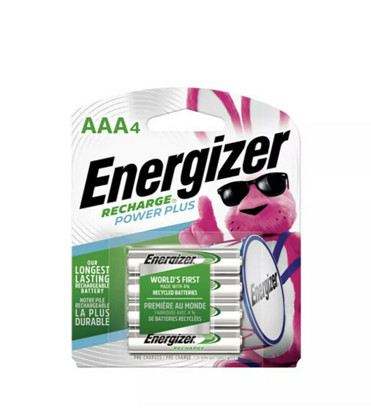 Energizer  NiMH  AAA  1.2 volt Rechargeable Batteries  NH12BP4  4 pk