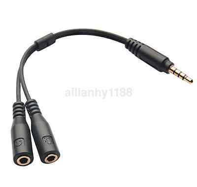 3.5mm Headphone Male to 2Female Y Splitter Audio Mic Adapter