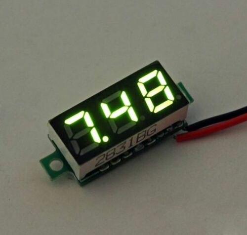 2.6V-30V 0.28 inch Mini LED Display Digital Voltmeter Voltage Tester Meter Green