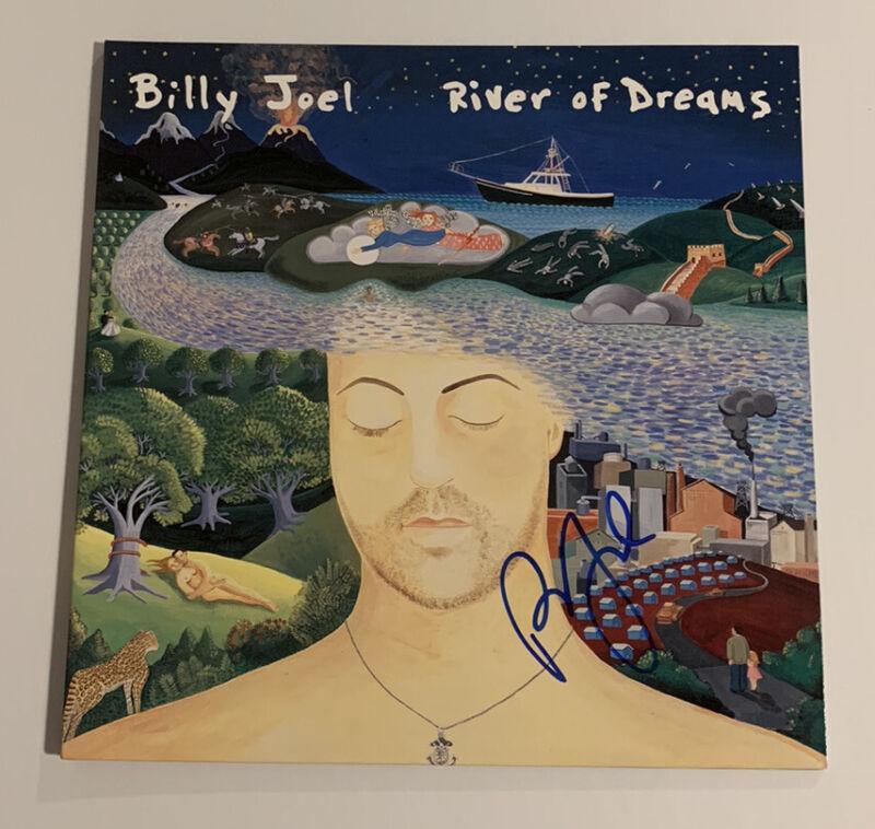 Billy Joel Signed River Of Dreams LP Vinyl Reissue PSA/DNA COA #AH47515 Auto