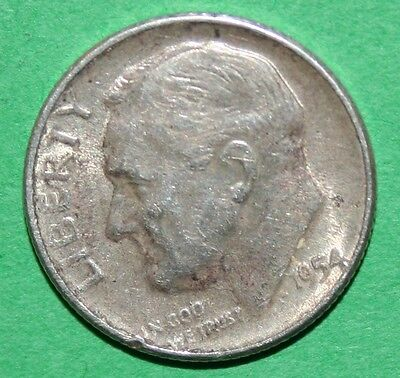 US ROOSEVELT SILVER DIMES    1954    1954 D    1954 S    ISSUED YEAR 1954