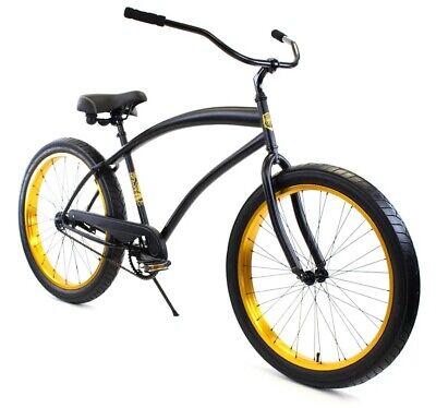 Zycle Fix Cobra Beach Cruiser Bicycle Bike Black Gold NEW Beach Bicycle Bike